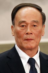 Wang Qishan when he was first elected to the Politburo Standing Committee in 2012.