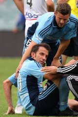 Marked man … Alessandro Del Piero endures rough-house tactics against Melbourne Heart.
