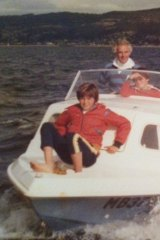 Daddo on a boat with family members in 1977.