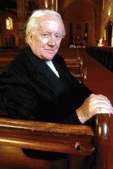 Faith in Abbott … Jesuit priest Father Emmet Costello.