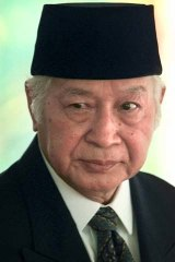 Former Indonesian president Suharto: allegedly offered suitcases of cash.