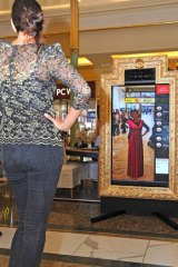 The Magic Mirror uses a special depth-sensing camera.