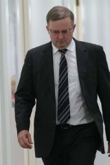 Anthony Albanese on his way to the leadership ballot last Thursday.