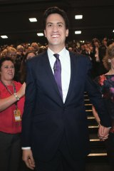 Opposition Labour Party leader Ed Miliband with wife Justine Thornton.