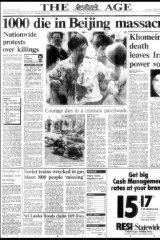 How <i>The Age</i> reported the massacre.