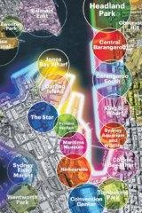 Huge potential: The western harbour precinct.