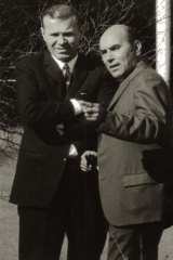 KGB station chief Ivan Stenin (right) and his successor, Geronty Lazovik, in Canberra in 1971.