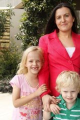 Balancing act ... Tania Mihailuk with her children.