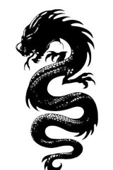 The dragon image which will be tattooed on a female fan's back to help promote <i>The Girl in the Spider's Web</i>.