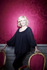 A for Agnetha: an image from the photo shoot at Confidencen, a rococo theatre in Sweden, for the former ABBA star's new album.