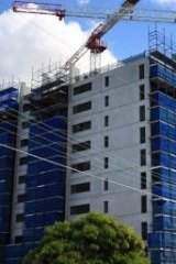 Apartments go up in Hurstville.
