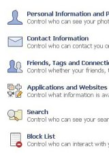 Facebook: privacy settings.