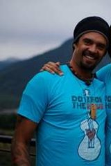 Franti with his partner, Sara Agah.