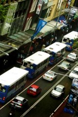 George Street: Bus routes scheduled to change as early as June.