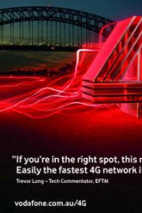 Detail of Vodafone ad running this week.