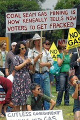 Opposition to coal seam gas extraction is growing.