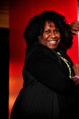 """Don't give up"" ... Gail Mabo, Eddie Mabo's daughter."
