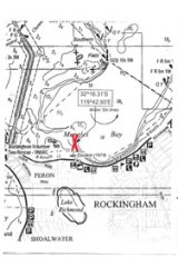 'X' marks the spot for Rockingham's sunken brothel boat.