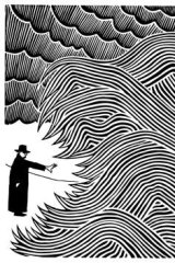 <i>Cnut</i> by Stanley Donwood, the cover for Thom Yorke's solo album, <i>The Eraser</i>.