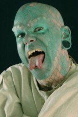 Eric Sprague, better known as The Lizardman, is appearing at Ballarat's inaugural World Sideshow Festival.