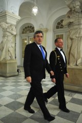 British Prime Minister Gordon Brown in Copenhagen for the UN Climate Change Conference.