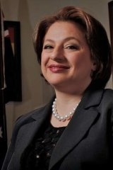 Sophie Mirabella, as Shadow Minister for Industry in her Parliament House office in 2011.