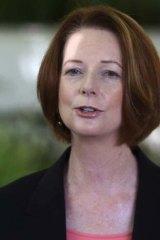 """It's fair to say he's aware of it"" ... Julia Gillard."