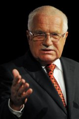 President of the Czech Republic Vaclav Klaus.