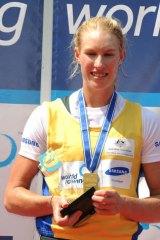 Women's single sculls gold medallist Kim Crow.