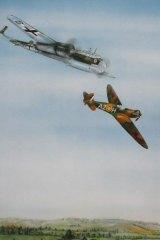 Spitfire: Depiction of Pat Hughes' last battle, September 7, 1940.