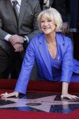 Silver fox: British actress Helen Mirren is one of the best-known greyheads.