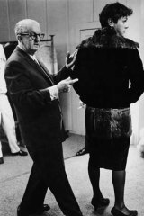 Scenes of his success .... Orry-Kelly with Tony Curtis during the making of <i>Some Like It Hot</i>.
