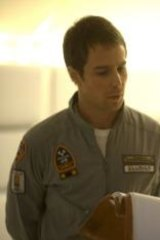 <i>Moon</i> director Duncan Jones (right) with his lead actor, Sam Rockwell.