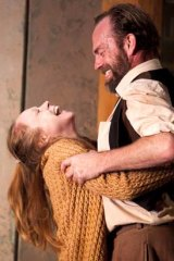 Hayley McElhinney and Hugo Weaving in <em> Uncle Vanya</em>.