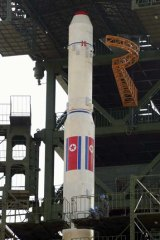 """Going into space ... North Korea said their rocket would carry a """"polar-orbiting Earth observation satellite"""" for """"peaceful scientific and technological"""" purposes."""