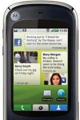 The Motorola Quench home screen