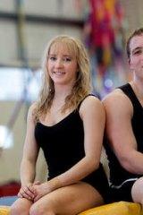 Liam De Jong and Tamika Ball training.