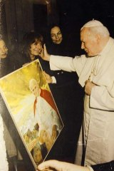 Minardo with Pope John Paul II.