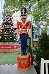 Why stop at two? Ian Dryden wants an army of toy soldiers along Collins Street.