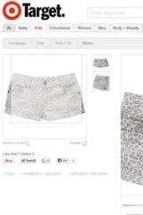 Short shrift ... An example of girlswear listed on Target's online store.