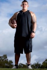 Jesse Williams ... Tuscaloosa's 330 pound giant all the way from Queensland. Photo: Mike Curtain