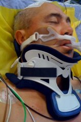 Former Raiders player David Boyle recovering from a coma in 2010.