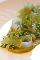 Diego Munoz's pistachio and baby sorrel.