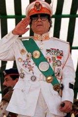 Muammar Gaddafi in 1999.