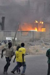 After a bomb blast in the Nigerian city of Kano in January.