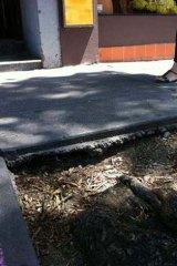 Chapel Street footpath damage.