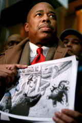 Appalled ... New York State Senator Eric Adams.