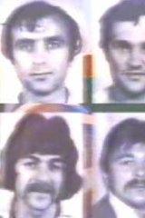 Convicted ... clockwise from top right, Mile Nekic, Maksim Bebic, Joseph Kokotovic, Vrjkoslav Brajkovic, Ante Zvirotic, Ilija Kokotovic.