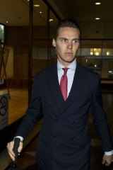 More material?: Oliver Curtis at Downing Centre Courts.