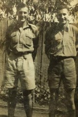 Twins Harold and Alex Hanton in their army days.